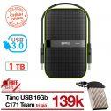 Ổ cứng di động 1TB 3.0 chống sốc Silicon Armor A60 tặng USB 16Gb Silicon T20 chống nước - Hãng...