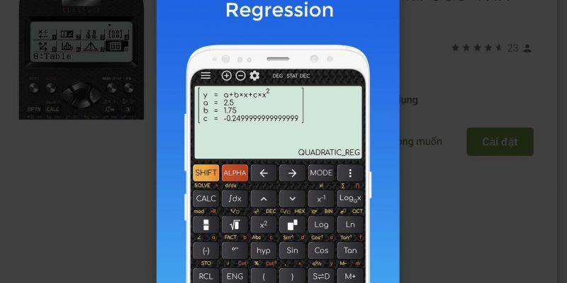 Tải ngay ứng dụng máy tính Casio 580 và 570 trên Android