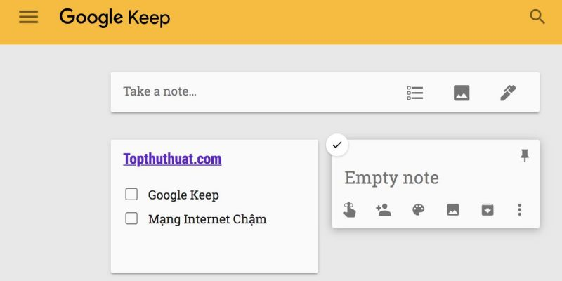Cách sử dụng Google Keep trực tiếp trên Macbook