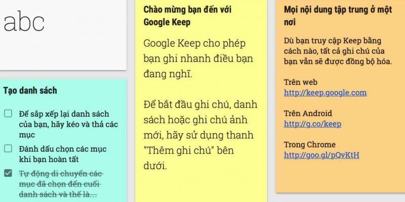 Google Keep – Tạo ghi chú nhanh và chia sẻ với bạn bè dễ dàng