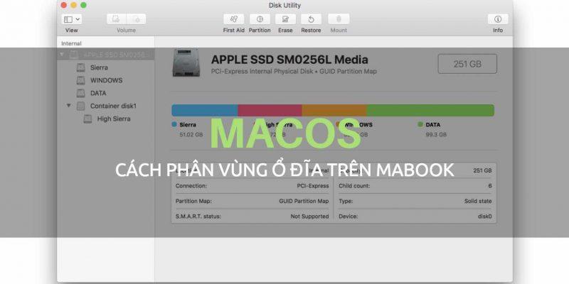 Cách tạo mới/xóa phân vùng ổ cứng trên Macbook với Disk Utility