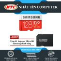 Thẻ nhớ MicroSDXC Samsung Evo Plus 128GB UHS-I U3 100MB/s - Model 2017 (Đỏ) + Tặng MicroSD Adapter Samsung